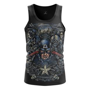 Мужская Майка Капитан Америка 4 - купить в teestore