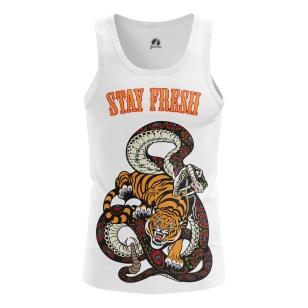 Мужская Майка Тигр и змея - купить в teestore