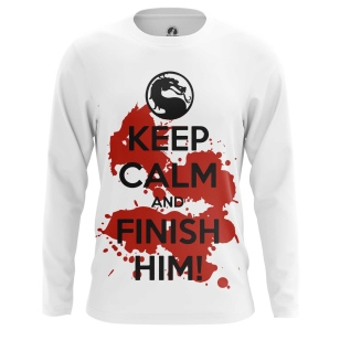 Мужской Лонгслив Keep calm and finish him - купить в teestore