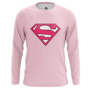 Мужской Лонгслив Superman pink logo - купить в teestore
