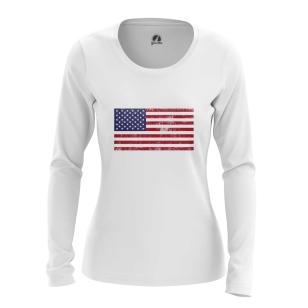 Женский Лонгслив Флаг США - купить в teestore