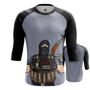 Мужской Реглан 3/4 Террорист - купить в teestore