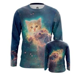 Мужской Лонгслив Космический котенок - купить в teestore