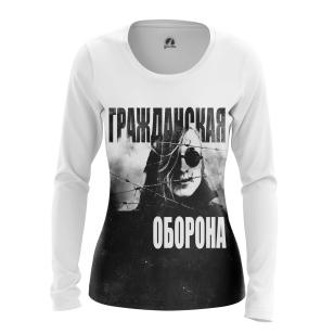 Женский Лонгслив Гражданская оборона - купить в teestore