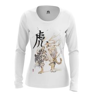 Женский Лонгслив Белый тигр - купить в teestore