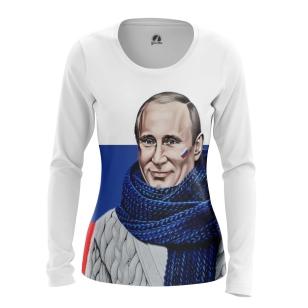 Женский Лонгслив Владимир Путин - купить в teestore
