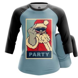 Женский Реглан 3/4 Claus party - купить в teestore