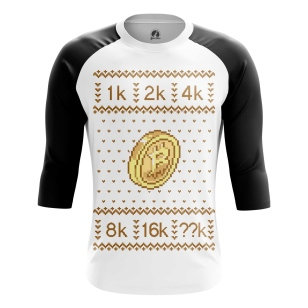 Мужской Реглан 3/4 Bitcoin - купить в teestore