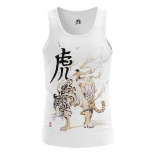 Мужская Майка Белый тигр - купить в teestore