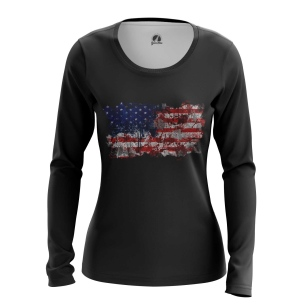 Женский Лонгслив Американский флаг - купить в teestore