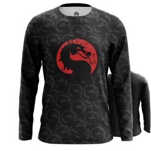 Мужской Лонгслив Mortal Kombat лого - купить в teestore