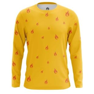 Мужской Лонгслив Fire Emoji - купить в teestore