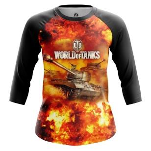 Женский Реглан 3/4 World of Tanks in Fire - купить в teestore