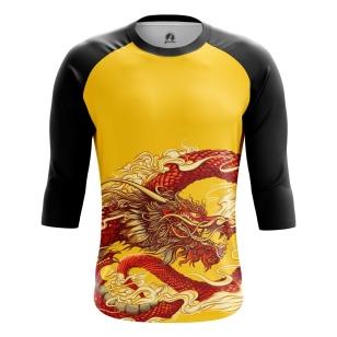 Мужской Реглан 3/4 Китайский дракон - купить в teestore