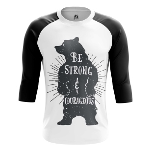 Мужской Реглан 3/4 Strong and courageous - купить в teestore