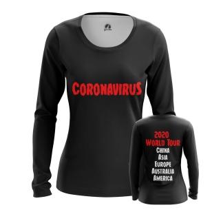 Женский Лонгслив Coronavirus World Tour - купить в teestore