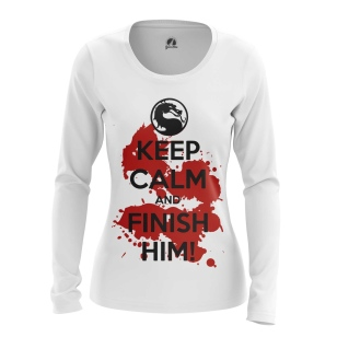 Женский Лонгслив Keep calm and finish him - купить в teestore