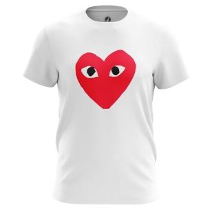 Футболка Сердце с глазами - купить в teestore. Доставка по РФ