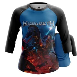Женский Реглан 3/4 Megadeth - купить в teestore