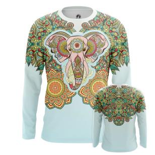 Мужской Лонгслив Слон мандала - купить в teestore