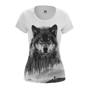 Женская Футболка Волк - купить в teestore