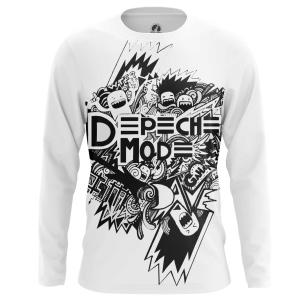 Мужской Лонгслив Depeche Mode чб - купить в teestore