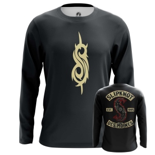Мужской Лонгслив Slipknot logo - купить в teestore