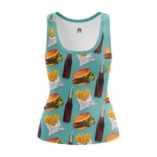Женская Майка Fast food - купить в teestore