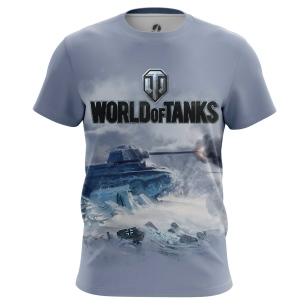 Мужские Футболки World of Tanks Ice . Доставка по всей России
