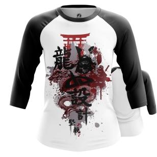 Женский Реглан 3/4 Японский стиль - купить в teestore