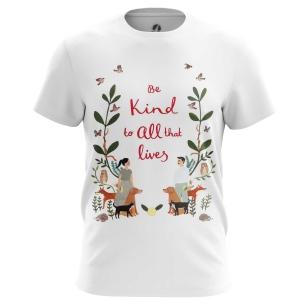 Футболка Be kind to animals - купить в teestore. Доставка по РФ