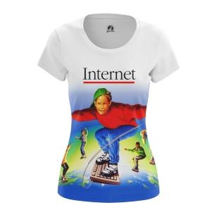 Женская Футболка Internet - купить в teestore