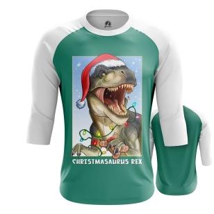 Мужской Реглан 3/4 Christmasaurus Rex - купить в teestore