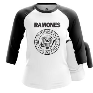 Женский Реглан 3/4 Ramones logo - купить в teestore
