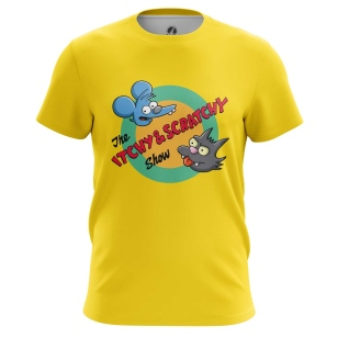 Футболка Itchy and Scratchy show - купить в teestore. Доставка по РФ