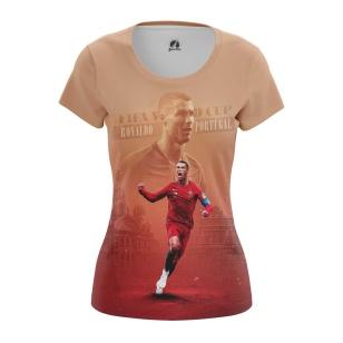 Женская Футболка Роналду - купить в teestore