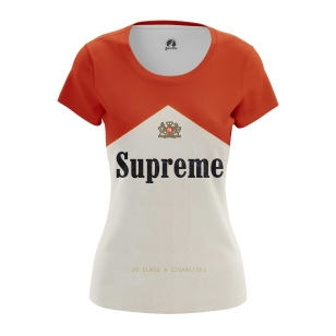 Женские Женские футболки Supreme Cigarettes. Доставка по всей России