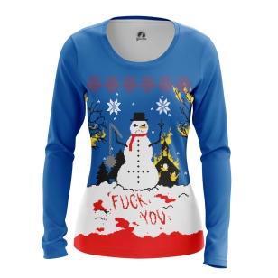 Женский Лонгслив Christmas of white - купить в teestore