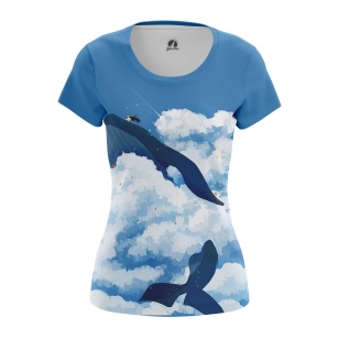 Женская Футболка Небесный кит - купить в teestore