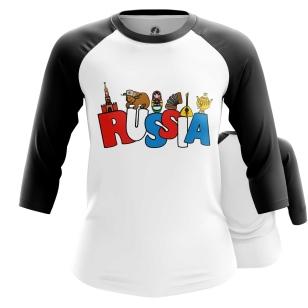 Женский Реглан 3/4 Russia - купить в teestore