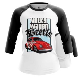 Женский Реглан 3/4 Volkswagen Beetle - купить в teestore