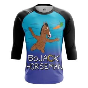 Мужской Реглан 3/4 BoJack Horseman - купить в teestore