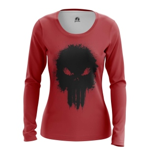 Женский Лонгслив Punisher red - купить в teestore