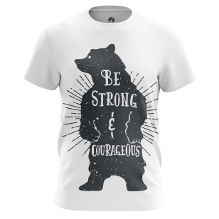 Футболка Strong and Courageous - купить в teestore. Доставка по РФ