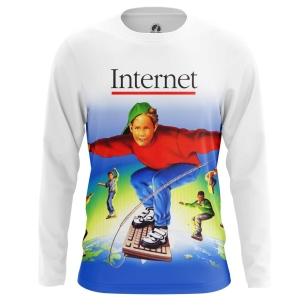 Мужской Лонгслив Internet - купить в teestore
