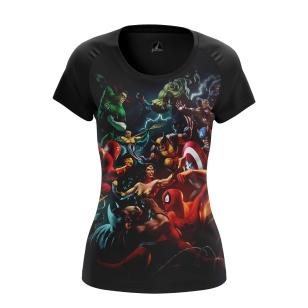 Женская Футболка DC vs Marvel - купить в teestore