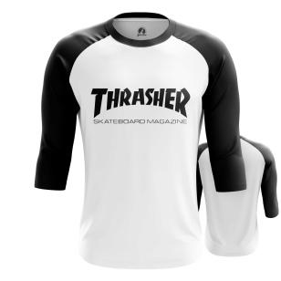 Мужской Реглан 3/4 Thrasher белая - купить в teestore