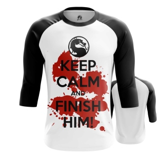 Мужской Реглан 3/4 Keep calm and finish him - купить в teestore