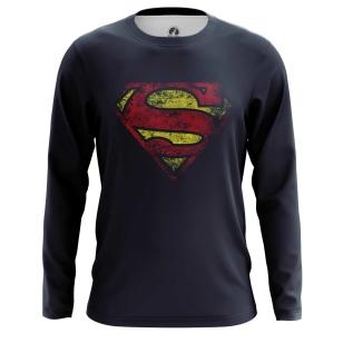 Мужской Лонгслив Супермен логотип - купить в teestore