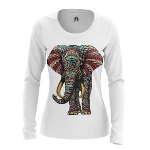 Женский Лонгслив Индийский слон - купить в teestore